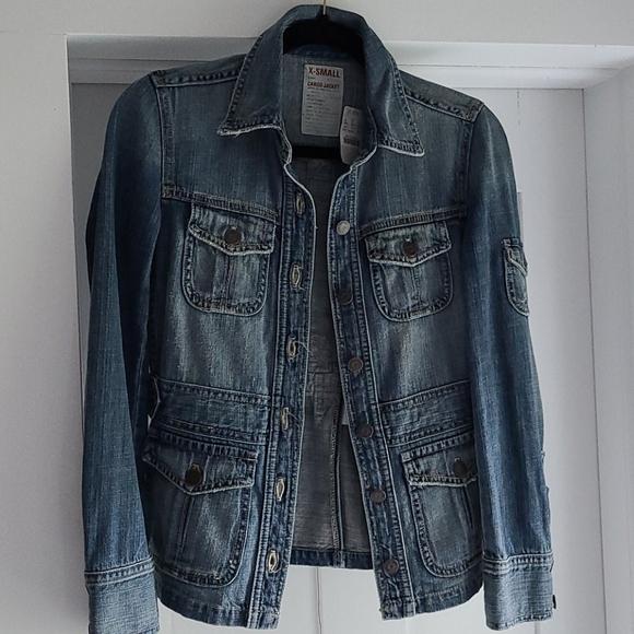 Jcrew cargo jean jacket